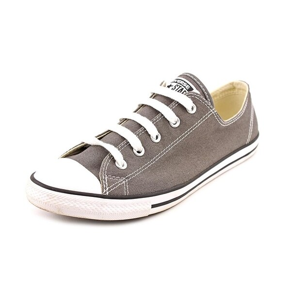 c79910784cc Converse Chuck Taylor All Star Dainty Ox Women Round Toe Canvas Gray  Sneakers