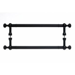 Top Knobs M836-12pair Somerset Collection 12 Inch Center to Center Patina Black Weston Back to Back Door Pull Pair