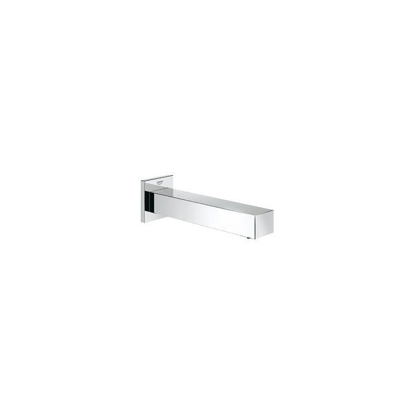 "Grohe 13 305 Eurocube 6-11/16"" Non-Diverter Wall Mounted Tub Spout - Starlight Chrome"