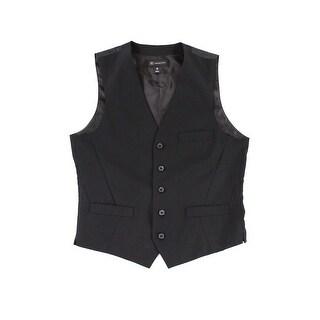 INC Black Mens Size Medium M Five Button Clark Waistcoat Dress Vest