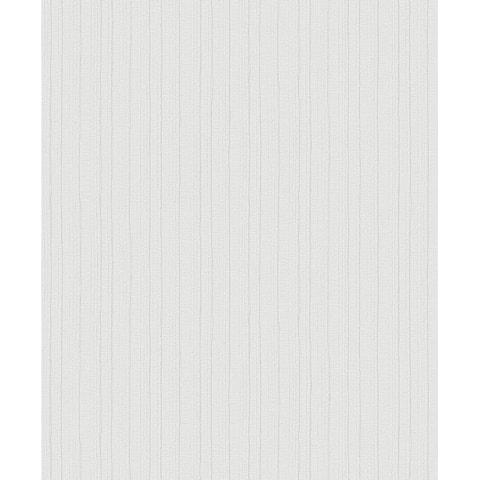 Kinsley Off-White Textured Stripe Wallpaper - 21in x 396in x 0.025in