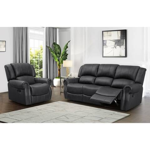 Abbyson Calabasas Reclining Sofa and Recliner Set