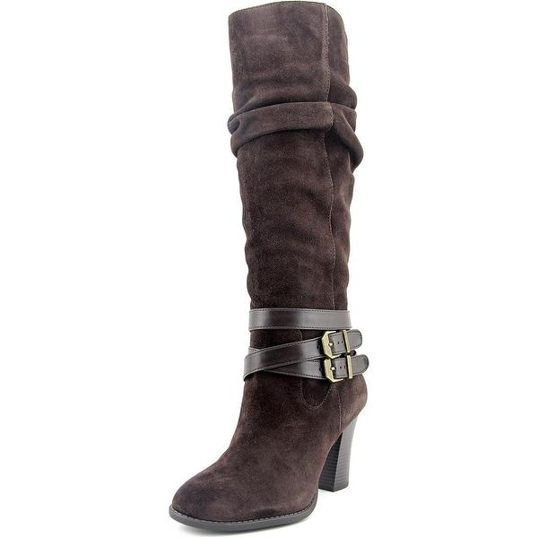 INC International Concepts Jordana Round Toe Suede Knee High Boot
