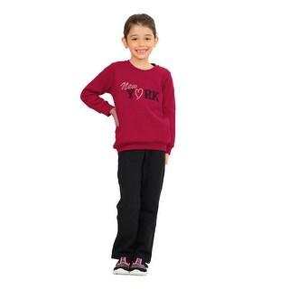 Pulla Bulla Little Girls' Outfit Sweatshirt and Sweatpants Set