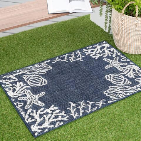 Alise Rugs Exo Novelty Coastal Indoor/Outdoor Area Rug