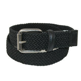 Levis Boy's Elastic Braided Stretch Belt - Black