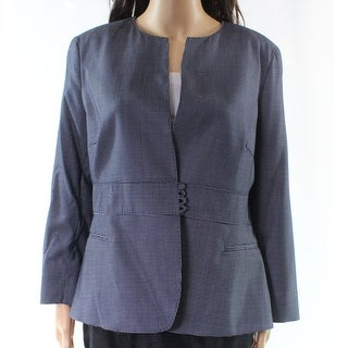 Max Mara NEW Blue White Women's Size 14 Dot-Printed Jacket Wool