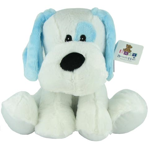 Beverly Hills Teddy Bear Company Plush Blue Rattle Dog