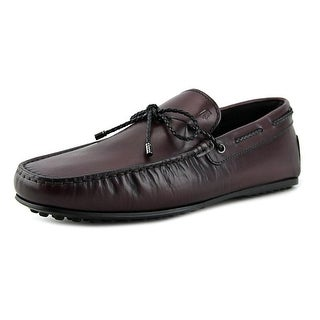 Tod's laccetto scooby-doo city gommino Men Square Toe Leather Burgundy Loafer