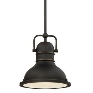 "Westinghouse 63082A Boswell 9"" Wide Single Light LED Mini Pendant with Metal Shade"