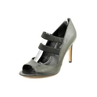 Via Spiga Ettie Women Open-Toe Leather Black Heels