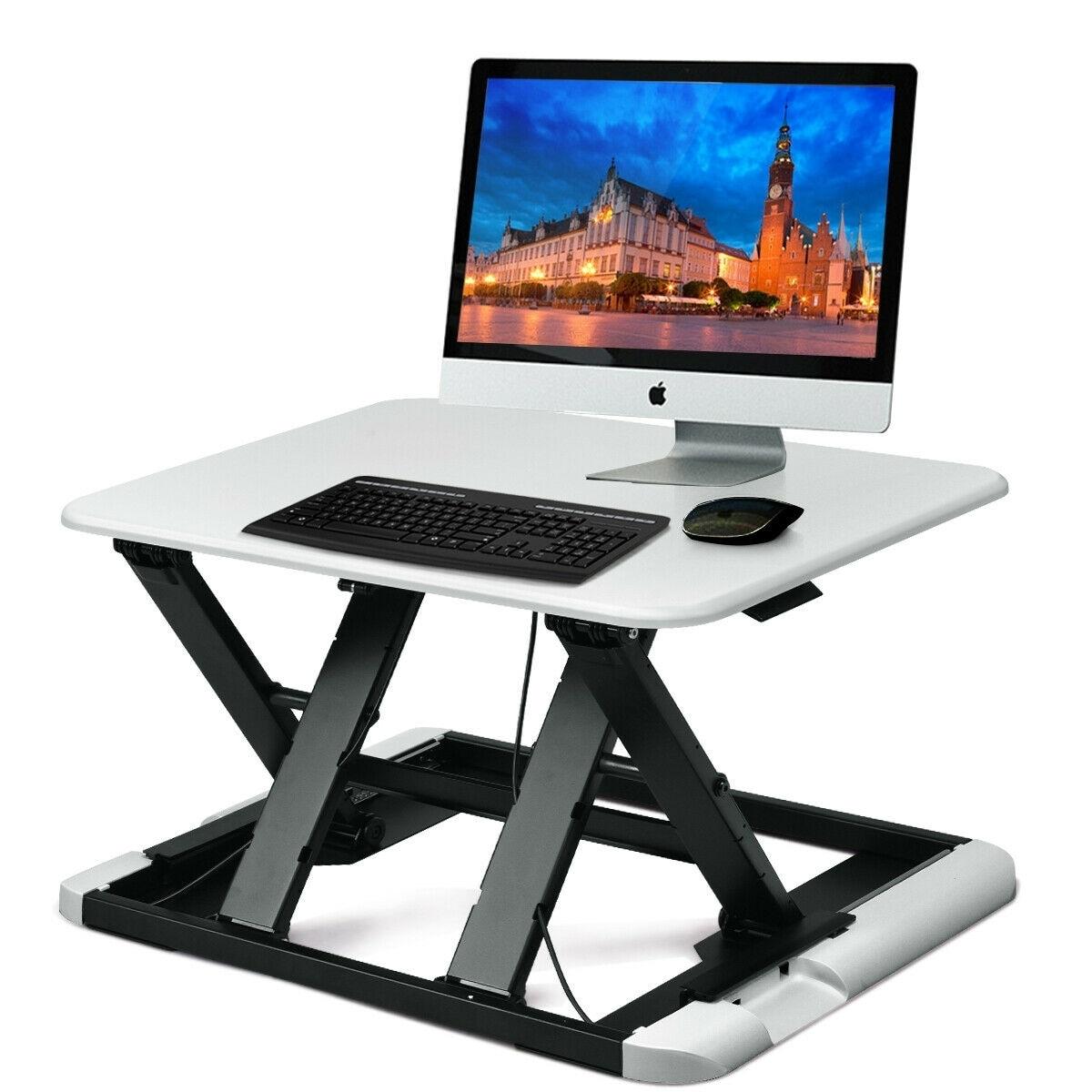 Picture of: Shop Black Friday Deals On Slim 8 Adjustable Standing Folding Lap Desk White Overstock 28433877