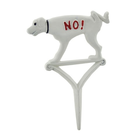 Hand Painted Cast Iron NO! Dogs Allowed Yard Stake