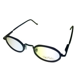 Bob Mackie Opthalmic Eyeglass Mens Oval Metal Black #852 #01