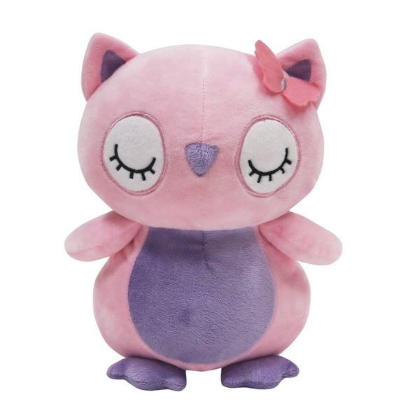 Shop Bedtime Originals Butterfly Meadow Pink Purple Plush Owl