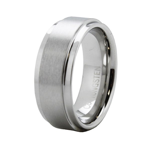 Cobalt Ring with Step Down Edge
