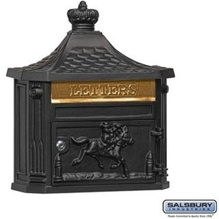 Salsbury 4460BLK Victorian Mailbox with Surface Mounted, Black