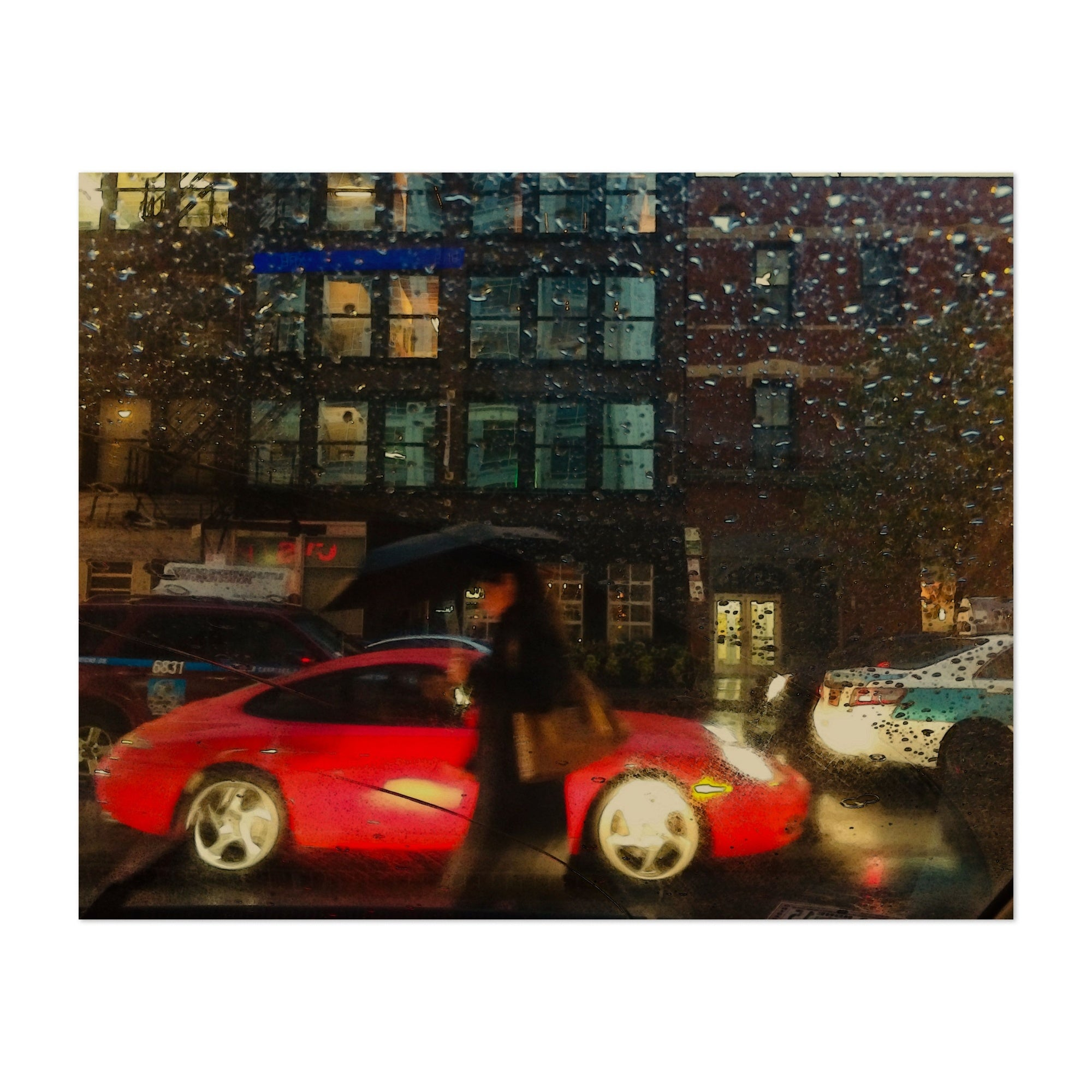 Chicago Illinois Car Cars Rain Red Unframed Wall Art Print Poster Overstock 31234391