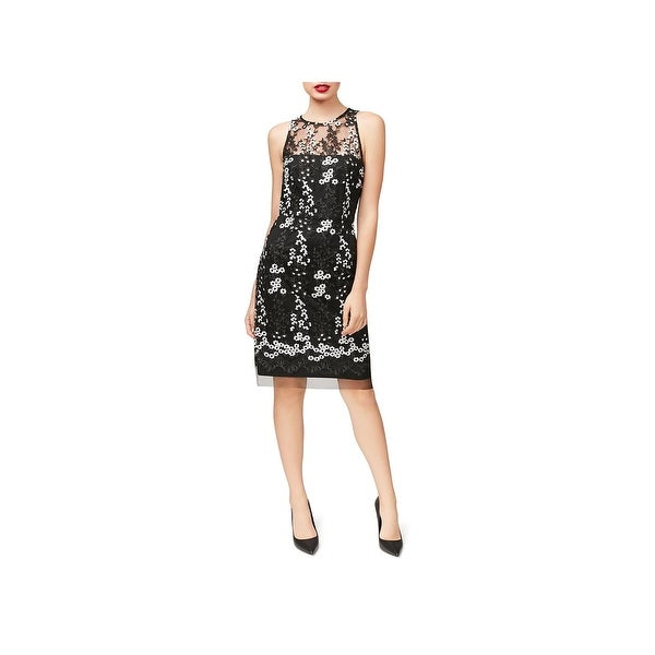 Betsey Johnson Womens Cocktail Dress Lace Embroidered