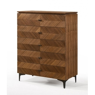 Link to Modrest Paula Mid-Century Walnut Chest Similar Items in Dressers & Chests