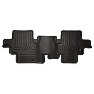 Husky Weatherbeater 2013-2015 Nissan Pathfinder 2nd Row Black Rear Floor Mats/Liners