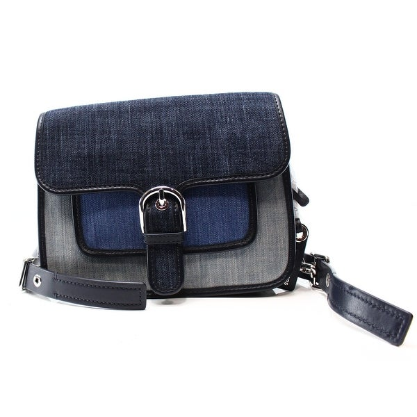 c48db6aaa786 Shop Michael Kors NEW Blue Indigo Washed Denim Cooper Messenger Bag ...