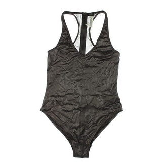 Diesel Womens Mesh Inset Back Zipper One-Piece Swimsuit