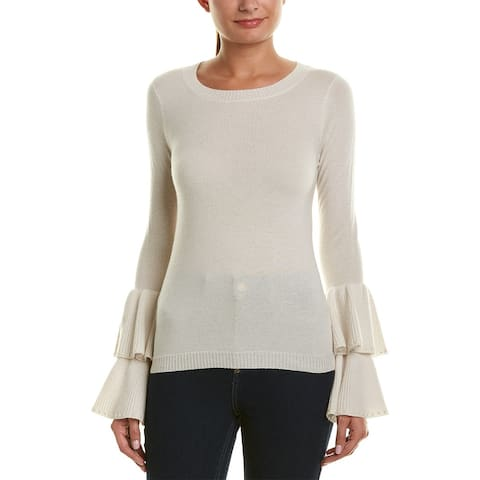 Incashmere Bell-Sleeve Cashmere Sweater