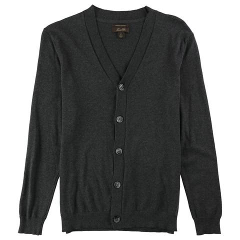 Tasso Elba Mens Supima Cotton Cardigan Sweater