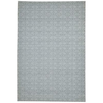 One of a Kind Flatweave Modern 5' x 8' Novelty Wool Grey Rug - 5' x 7'