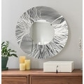 Statements2000 Silver Metal Decorative Wall-Mounted Mirror by Jon Allen - Mirror 104 - Thumbnail 0