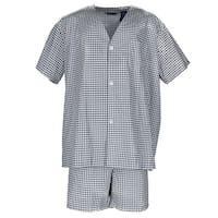Fruit of the Loom Men's Big and Tall Short Sleeve Short Leg Pajama Set
