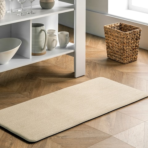 nuLOOM Casual Braided Anti Fatigue Kitchen or Laundry Room Comfort Mat