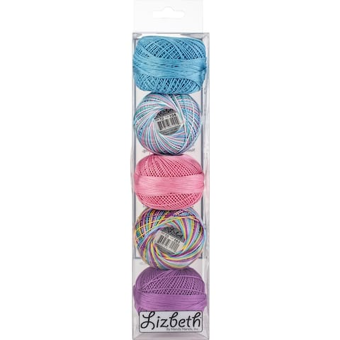 Handy Hands Lizbeth Specialty Pack Cordonnet Cotton Size 10-Summer, 5/Pkg - Medium