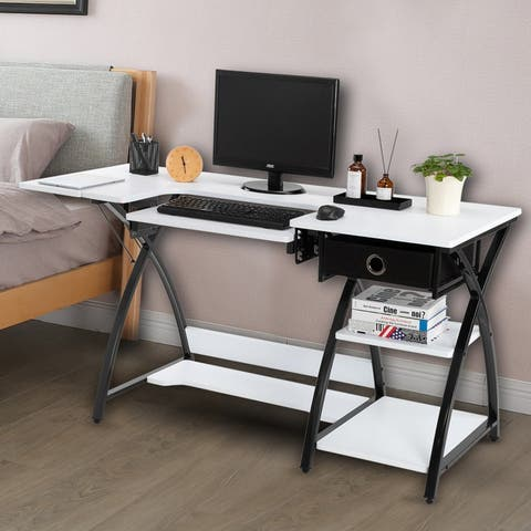 Home Use Worktable Computer Desk Sewing Table White
