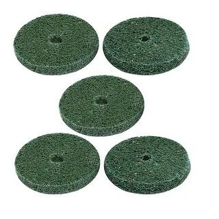 29mm Dia 150 Grit Nylon Rotary Polishing Wheels Pads Buffing Tools Green 5pcs