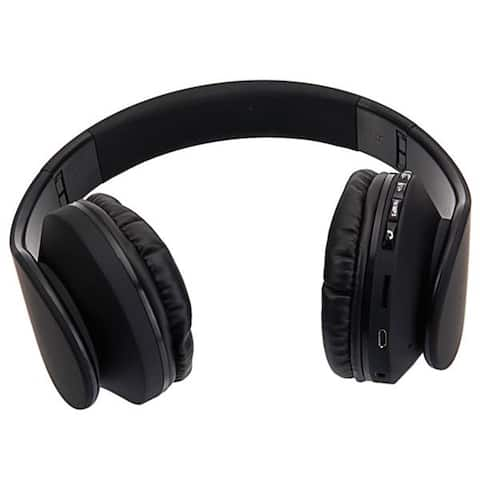 HY-811 Foldable FM Stereo MP3 Player Wired Bluetooth Headset Black