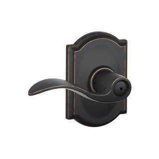Schlage F40-ACC-CAM  Accent Privacy Door Lever Set with Decorative Camelot Trim