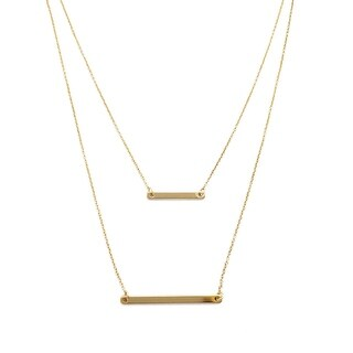 HONEYCAT Double Layer Bar Necklace (Delicate Jewelry)