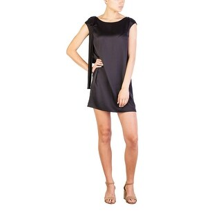 Prada Women's Silk Shoulder Bow Dress Black