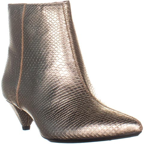Calvin Klein Larissa Pointed Toe Ankle Boots, Soft Gold - 7.5 US / 37.5 EU