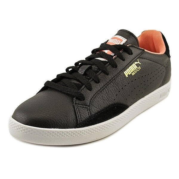 Puma Match Lo Basic Sports Women Round Toe Leather Black Sneakers