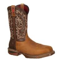 "Rocky Men's 11"" Long Range Western Carbon Fiber Toe 6132 Brown/Tobacco Leather"
