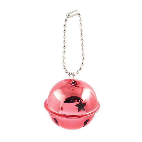 Unique Bargains Hollow Out Star Design 40mm Dia Ring Bell Decor Pale Red for Christmas Tree