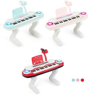 Link to Gymax Z-Shaped Kids Toy Keyboard 37-Key Electronic Piano Blue Pink Red Similar Items in Musical Instruments