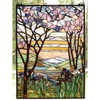 Meyda Tiffany 98589 Stained Glass Tiffany Window from the Magnolia Collection - n/a