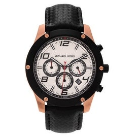 Michael Kors Men's 'Caine' MK8489 Chronograph Leather Strap Watch