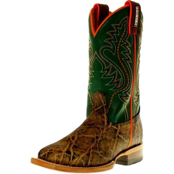 20da402e1c4 Cinch Western Boots Boys Elephant Print Square Toe Brown