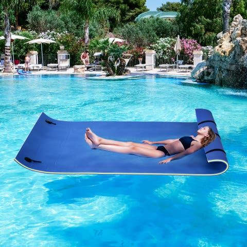 HOMCOM Roll-Up Pool Float Pad for Lakes, Oceans, & Pools, Water Mat for Playing, Relaxing, & Recreation