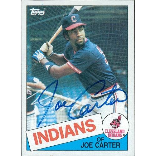 Signed Carter Joe Cleveland Indians 1985 Topps Baseball Card Autographed
